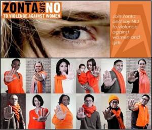 LE CLUB ZONTA AIX EN PROVENCE STE VICTOIRE DIT «NON A LA VIOLENCE ENVERS LES FEMMES»